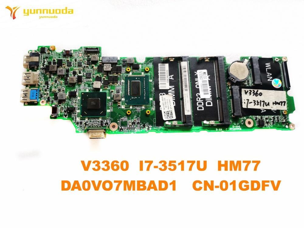 الأصلي لديل V3360 اللوحة المحمول V3360 I7-3517U HM77 DA0VO7MBAD1 CN-01GDFV اختبار جيد شحن مجاني