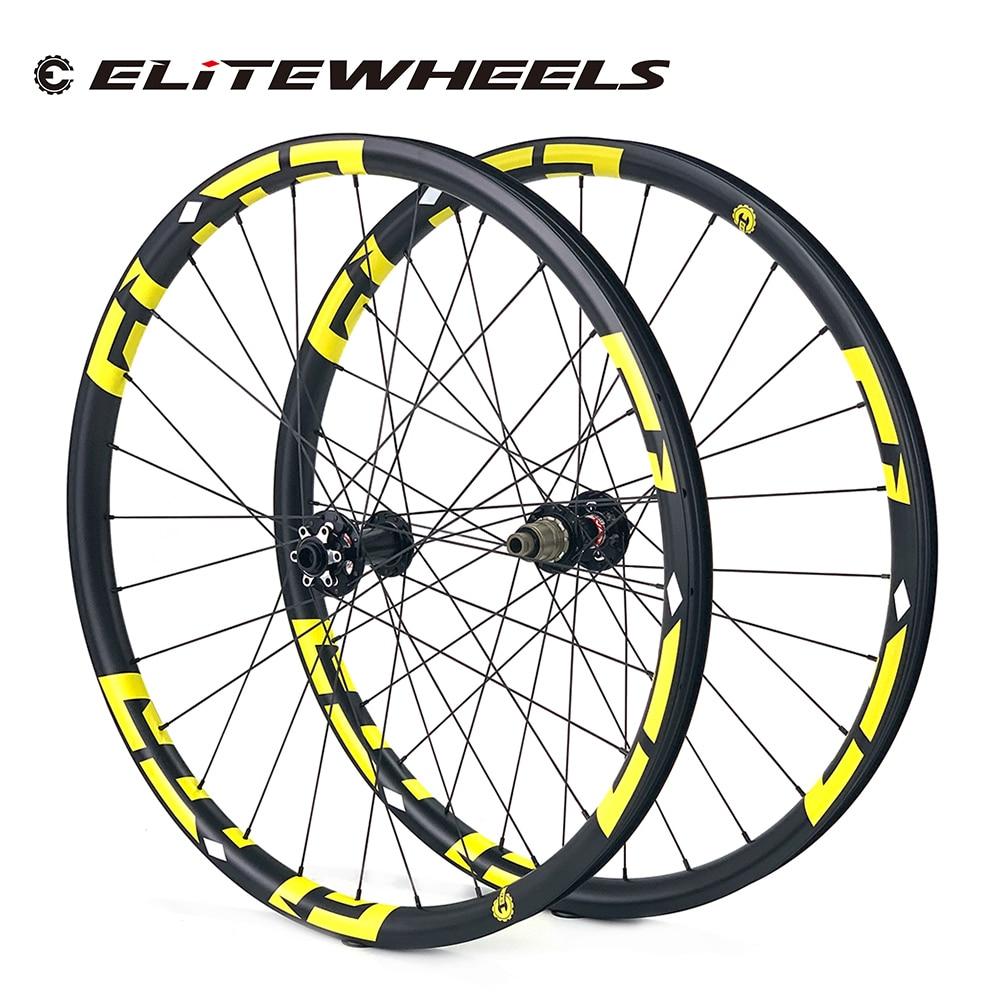 ELITEWHEELS-حافة دراجة جبلية كربونية 29er فائقة الخفة ، 350 جرام ، 33 مللي متر × 29 مللي متر ، محور NOVATEC D791/D792