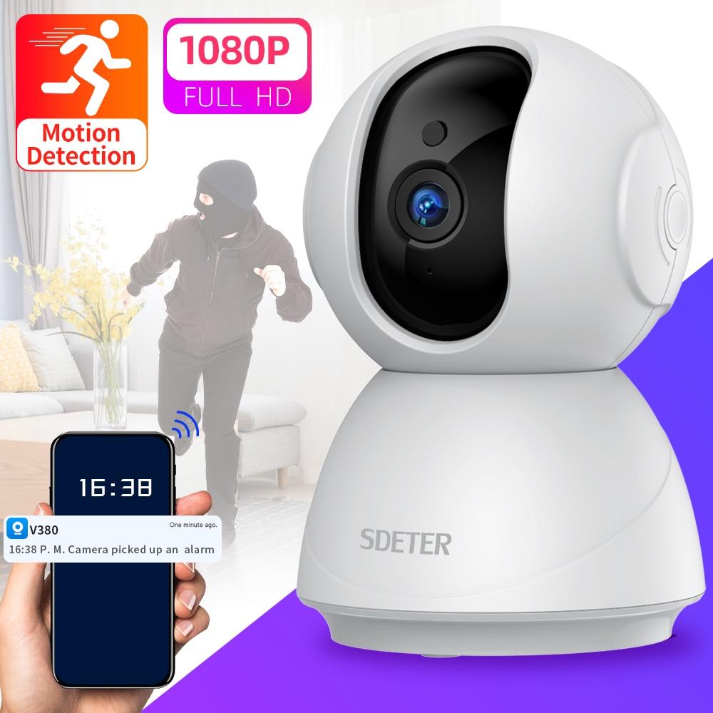 SDETER-كاميرا مراقبة فيديو لاسلكية ، 1080P ، WIFI ، رؤية ليلية ، مراقبة الطفل ، إنذار الحركة ، سحابة P2P ، 720P ، كاميرا صغيرة