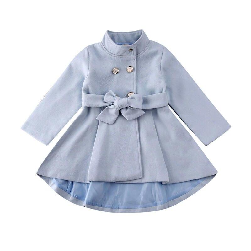 Abrigo de chico para niñas vestido de trinchera para niños pequeños abrigo de abrigo para niñas otoño traje de nieve ropa de Trech 1-5T