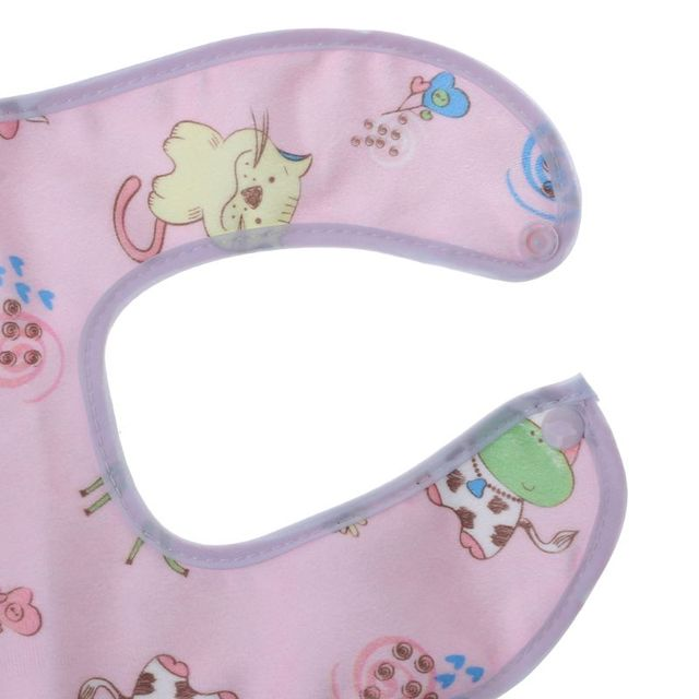 1PC Baby Bib Waterproof Cartoon Cute Buckle Bandana Burp Saliva Towel Boys Girls Feeding Apron Bib Infant Children Supplies 10