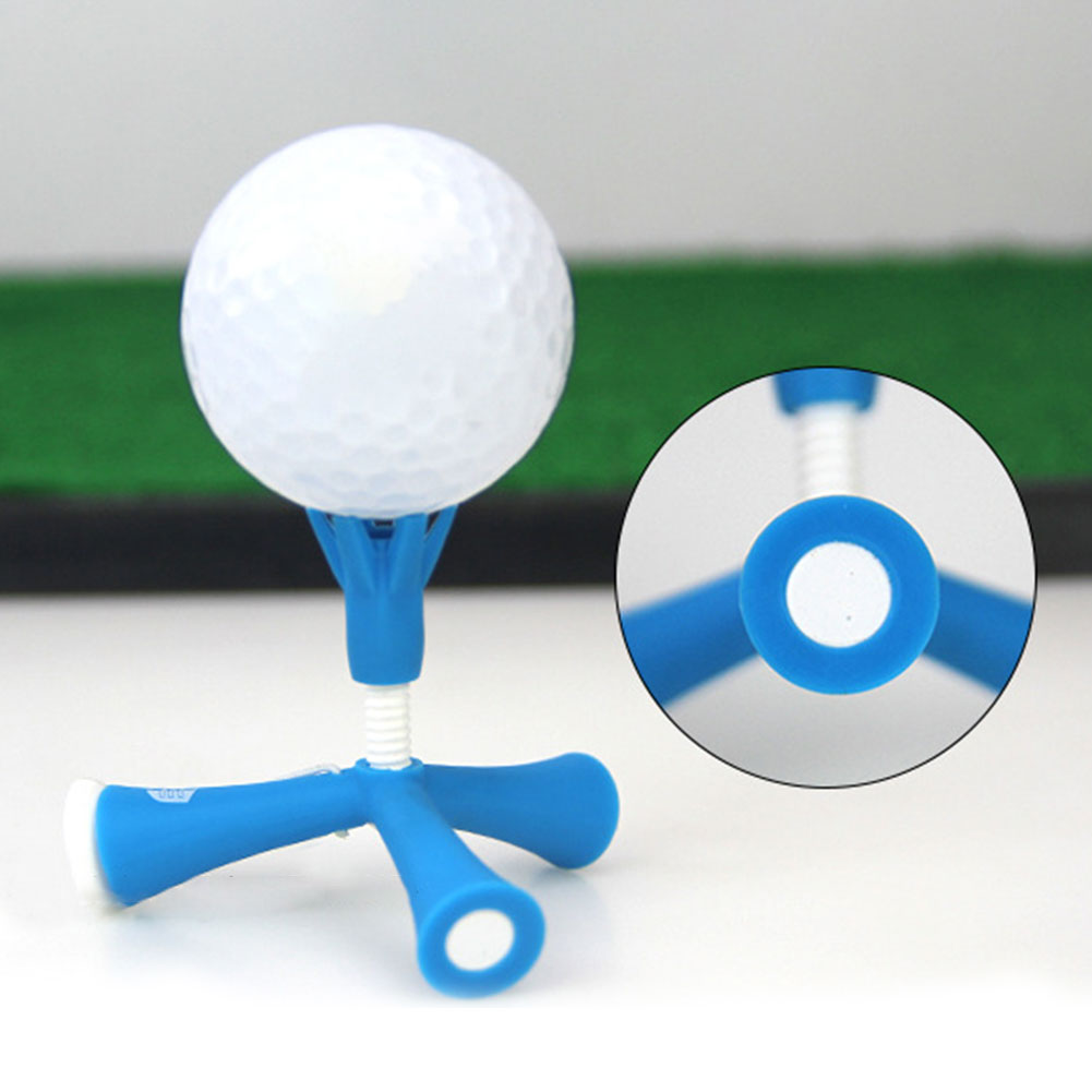 Ayuda de entrenamiento Anti-vuelo giratorio trípode accesorios bola titular ajustable altura Golf Tee fácil práctica Mini Self Standing
