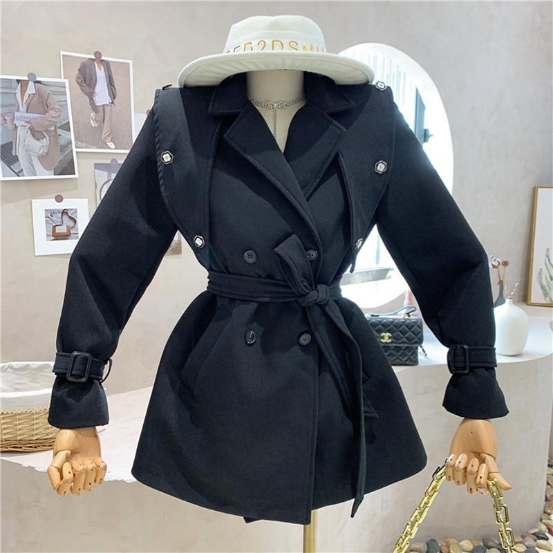 تصميم خاص جديد الملابس النسائية 2021 الخريف الشتاء المألوف تنوعا الترفيه فضفاضة ورقيقة معطف سترة واقية
