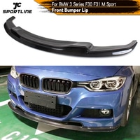 Carbon Fiber / FRP Black for BMW 3 Series F30 F31 320i 328i 335i M Sport Front Bumper Lip Spoiler Chin Splitters 2012 - 2017