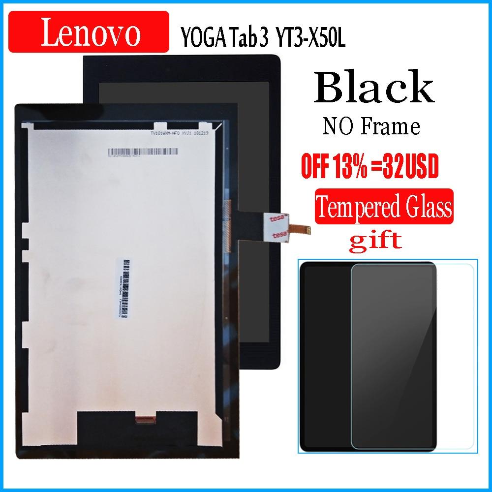 10,1-дюймовый ЖК-дисплей с сенсорным экраном для Lenovo YOGA Tab 3, YT3-X50L, 10,1 ЖК-дисплей + дигитайзер сенсорного экрана, стеклянный объектив в сборе