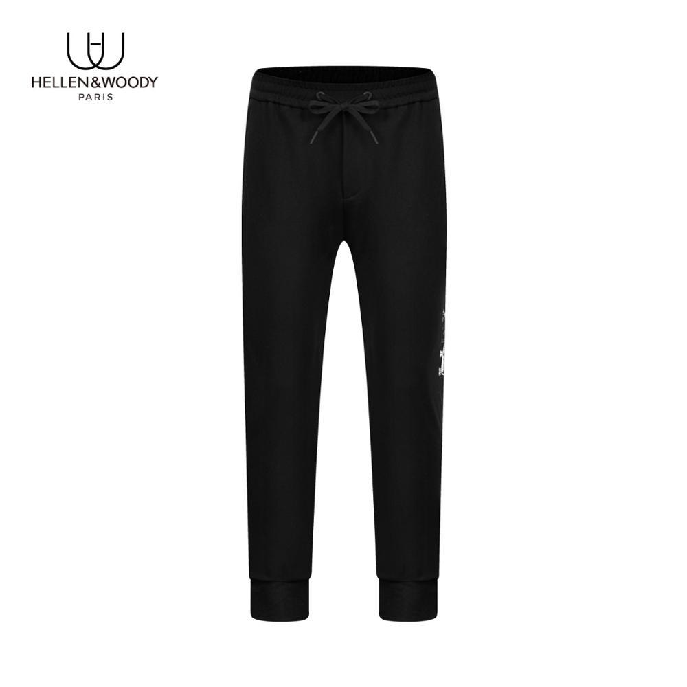 HELLEN&WOODY Mens Joggers Sweatpants Fashion Streetwear Regular Cotton Blend Winter Drawstring Pants