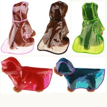 Outdoor Puppy Pet Rain Coats Transparent S-XL Hoody Waterproof Jackets PU Raincoat for Dogs Cats App