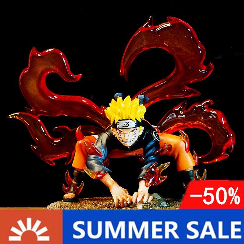 Figura de acción del Anime de Naruto Kyuubi, figura de Naruto Shippuden Uzumaki, Naruto Kurama, modelo de juguete de 200mm
