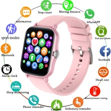LIGE 2021 New Full touch Female Digital watch waterproof Sports suitable for Android IOS multifuncti