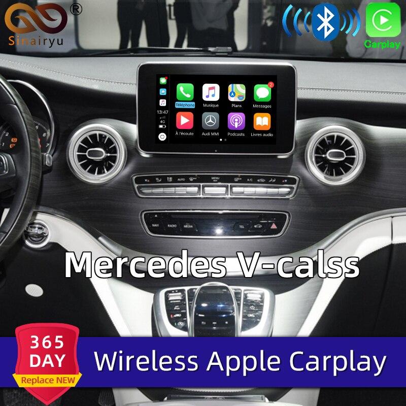 Sinairyu מולטימדיה מרצדס V-class אלחוטי OEM Apple Carplay Aftermarket Retrofit 2015-2018 שדרוג תמיכה הפוך מצלמה