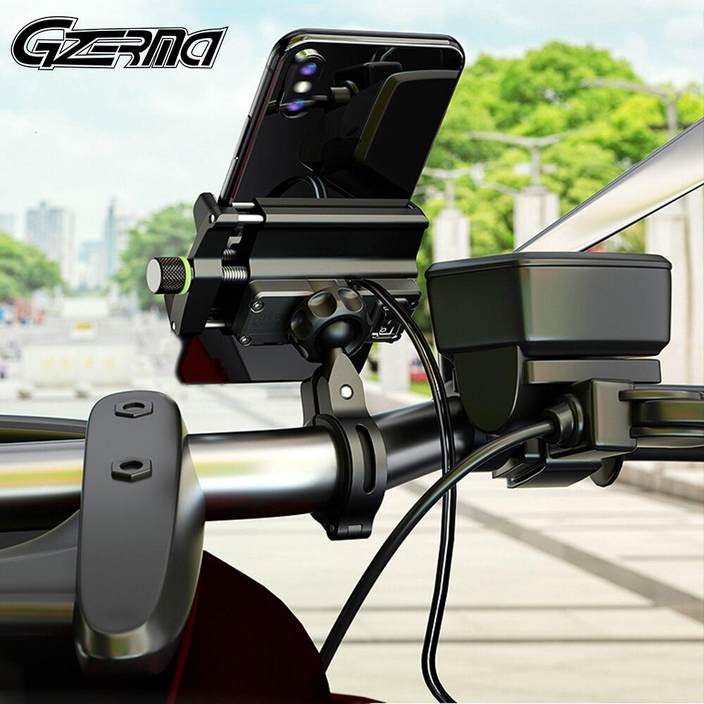 Suporte do suporte do telefone da bicicleta da motocicleta do carregador usb suporte 3.5-6.5 polegada smartphone suporte de montagem para moto bicicleta elétrica