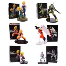 12-20CM Dragon Ball Z Son Goku PVC figurines dramatiques vitrine ange Goku Gohan Frieza végéta cellule DBZ Figura modèle jouets