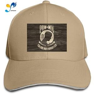 Pow Mia Military Flag Men Cotton Classic Baseball Cap Adjustable Size