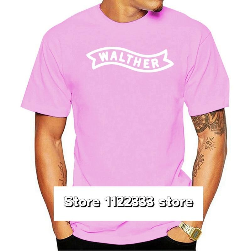 Walther-Camiseta blanca y negra para hombres, camisa divertida de la 2. a,...