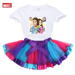 Me contro te meninas conjunto tutu vestido + t camisa meninas define 2020 verão arco-íris vestido da criança babys bonito vestido princesa linda roupa