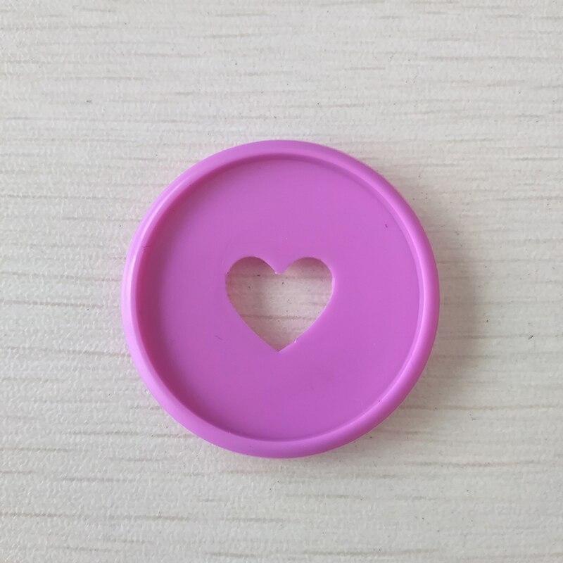 6 uds cuaderno corazón seta agujero botón Bloc de notas plástico hoja suelta bobina 360 grados plegable hebilla de disco suministros de oficina