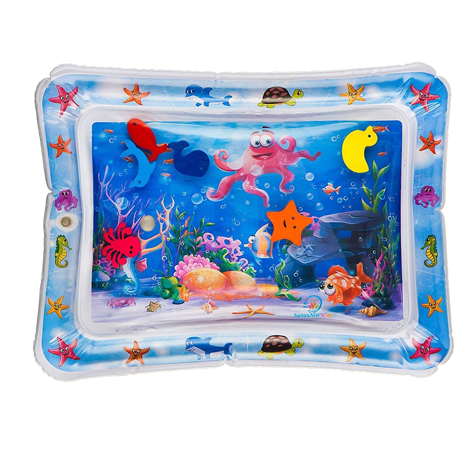 Baby Toy Inflatable Pat Water Pad Summer Baby Activity Fitness Game Mat Sea Animal Pat Pad Water Fun for Kids Boys and Girls недорого