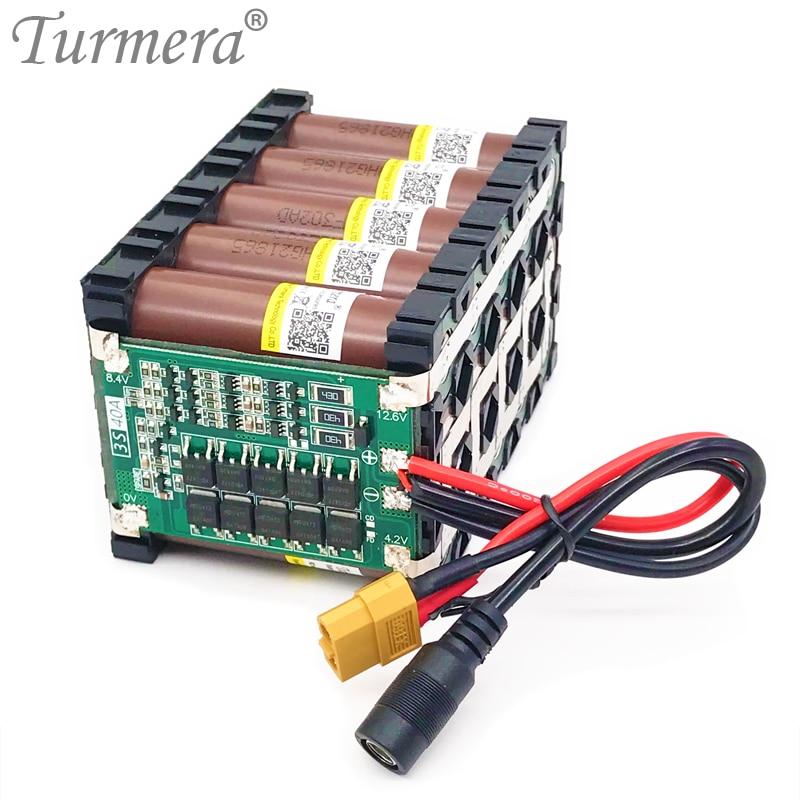 Turmera 12v 15ah bateria de lítio 18650 hg2 3000mah 3s5p 12.6v com 40a bms para scooter elétrico fonte de alimentação ininterrupta 12v a