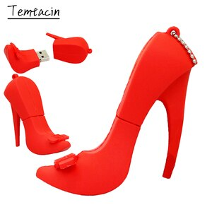 Fashion Pendrive Lady Red High heeled Shoes USB Flash Drive 8GB 16GB 32GB 64GB 128GB 256GB USB2.0 Memory Stick Cle USB Pen Drive