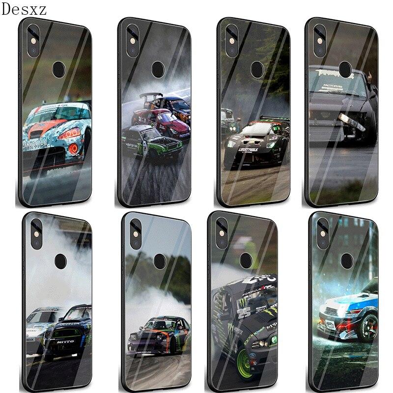 Funda para teléfono móvil para Xiaomi Redmi 4X 6A Nota 5 5 5 6 6 7 Pro 8 9 Lite A1 A2 5X 6X F1 cubierta deriva coches de carreras de automóviles JDM bolsa