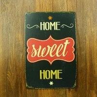 Signe en metal pour maison douce  Vintage  en etain  artisanat en metal  decor mural  Plaque mineuse