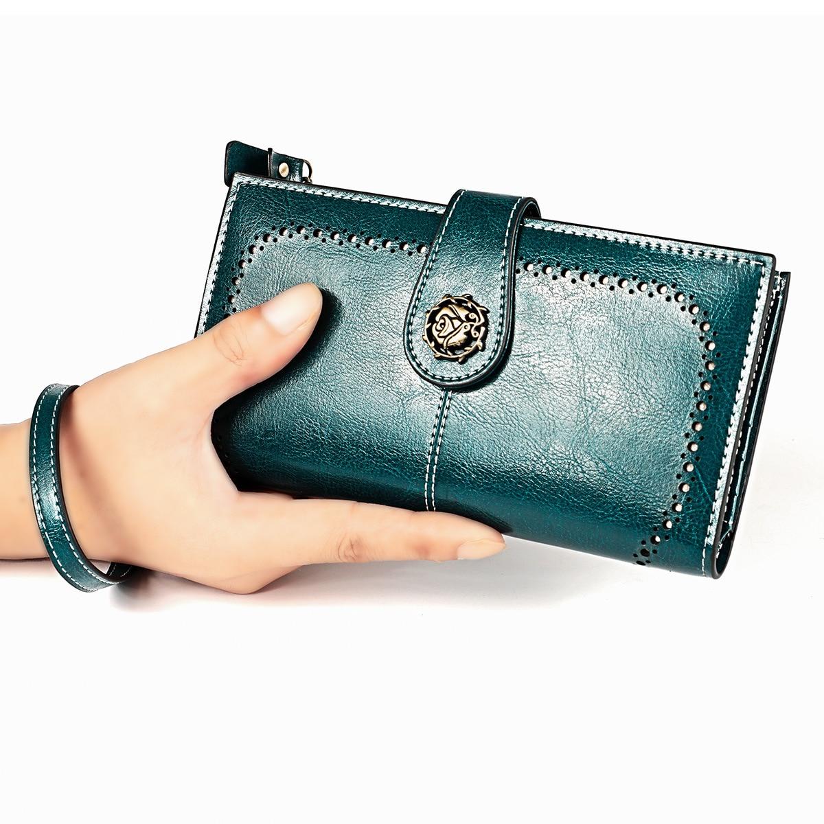 Fashion Women Wallets Long Split Leather Female Clutch Purse Large Capacity Card Holder Phone Wallet