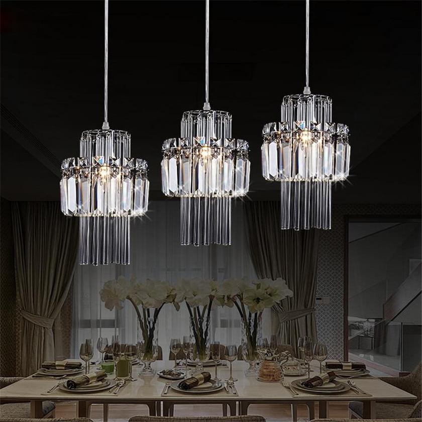 الحديثة الثريات البلورية/ النجف الكريستالي الفاخرة ضوء الإبداعية قلادة Led مصابيح لغرفة النوم المطبخ غرفة المعيشة شنقا ضوء الإضاءة