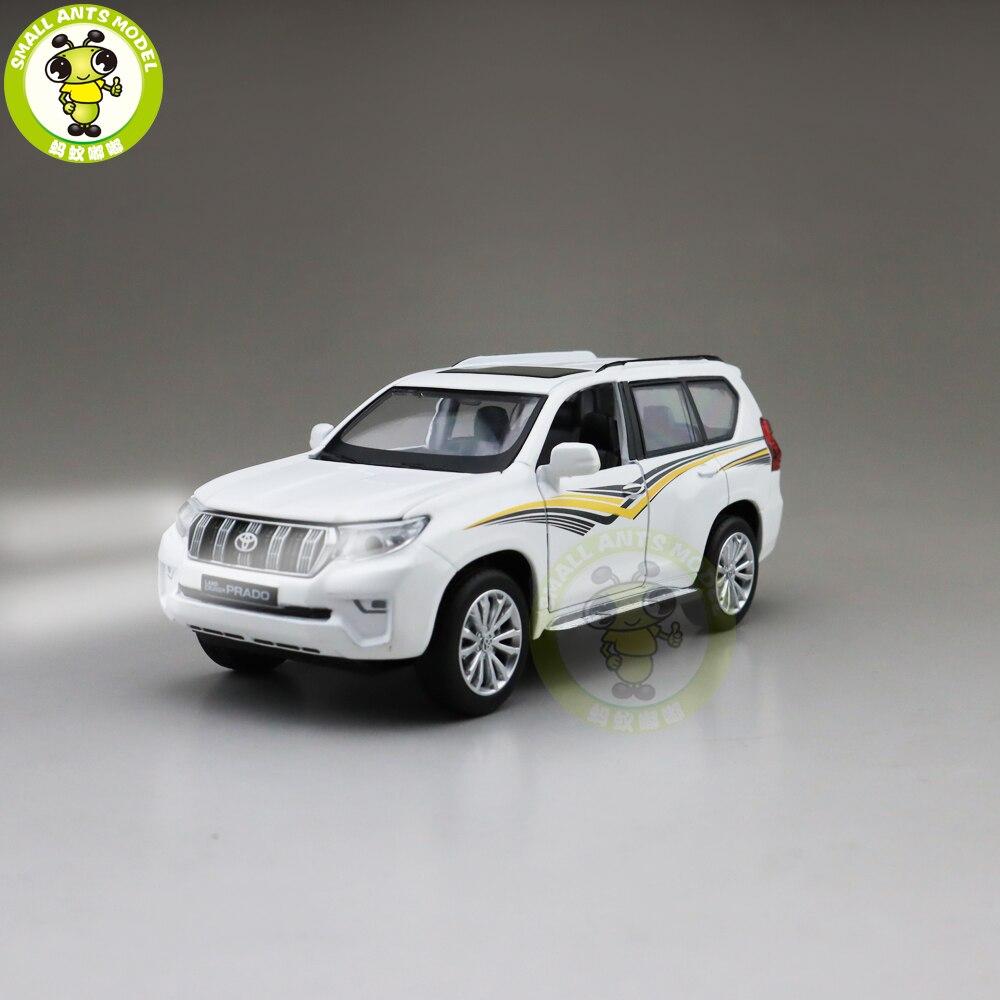 1/32 CAIPO 2019 Land Cruiser Prado Diecast coche modelo todoterreno juguetes para niños sonido iluminación Pull Back regalos