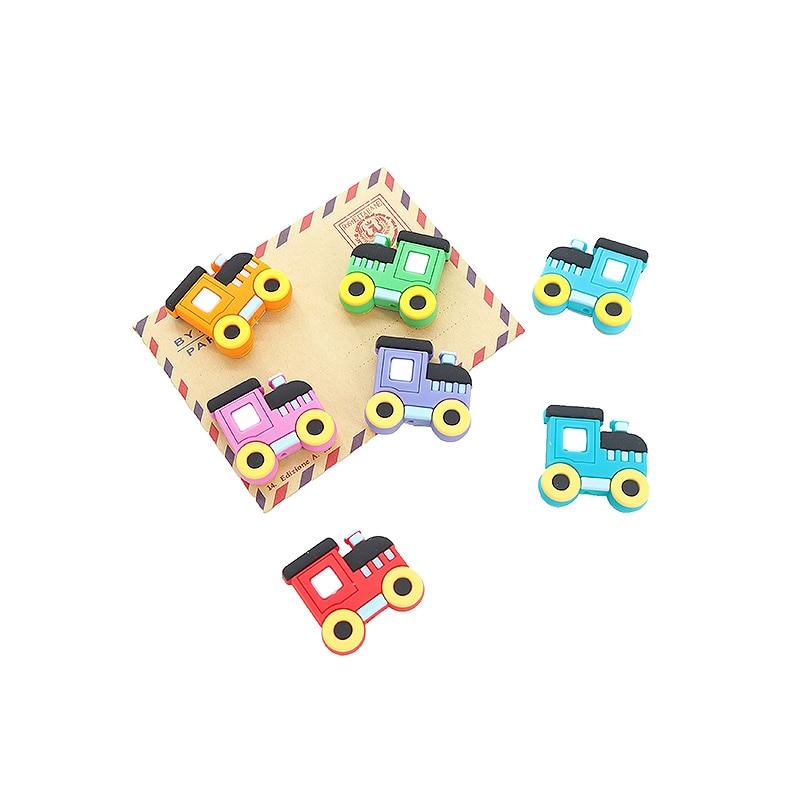 Chenkai, 7 Uds. De cuentas de silicona para mordedor, chupete de lactancia para bebé libre de BPA, colgante relajante DIY, collar, accesorios de pulsera de juguete