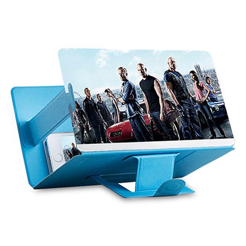 1 Uds. 3D lupa de pantalla de teléfono estereoscópica amplificación de escritorio plegable soporte de cuero soporte de teléfono móvil soporte de tableta