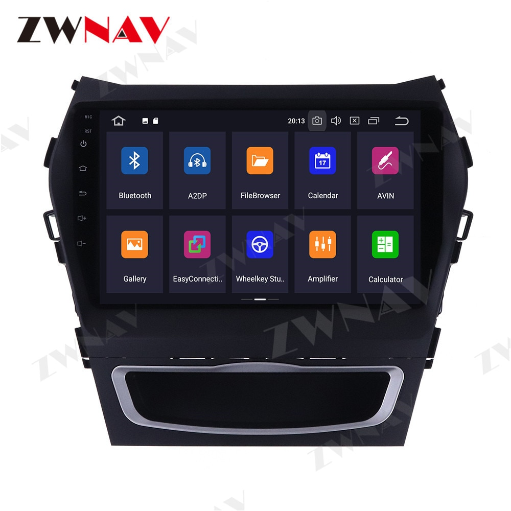 ZWNAV, unidad principal Android 10, pantalla táctil IPS 2,5d de 9 pulgadas, estéreo DSP, navegación GPS para Hyundai IX45, Santa Fe 2013-2017