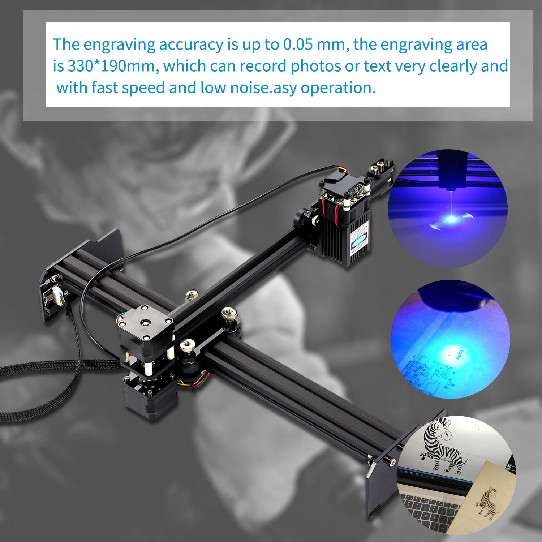 Máquina de grabado láser de 20W, impresora de grabado láser portátil de escritorio de alta velocidad, cortador de grabado láser DIY de arte doméstico