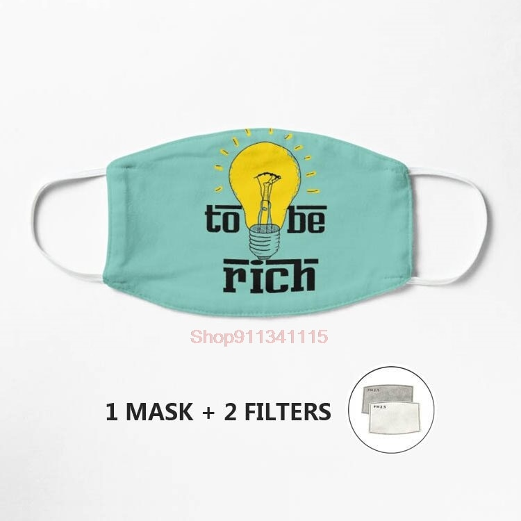 Eat the rich Jeff bezos mask Mask Unisex Reusable Washable Facemask Half Face Mouth Funny Face Protect Filter