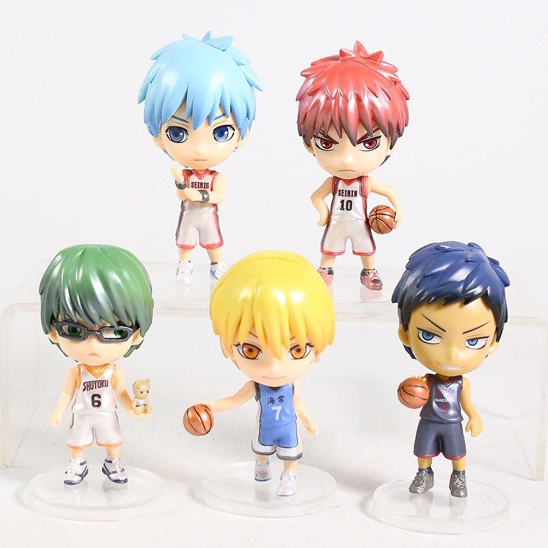 Kuroko's Basketball Kuroko Tetsuya Kagami Taiga Kise Ryota Midorima Shintaro Aomine Daiki PVC Figured Toys 5pcs/set