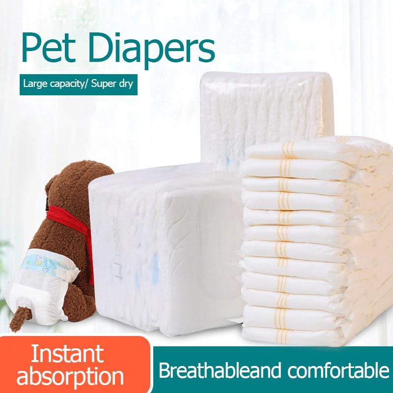 Одноразовые подгузники для собак, подгузники для питомцев, товары для собак, герметичные подгузники для питомцев, менструальные штаны для щ...