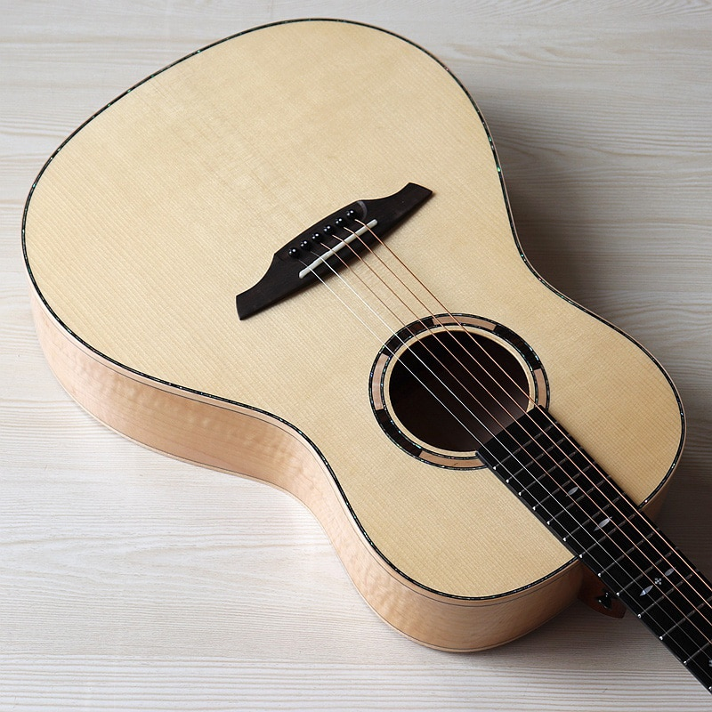 38 inch full solid wood travel guitar spruce wood top hand-made full size natural color 6 string acoustic guitar high quality enlarge