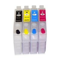 T702 T702XL Refillable Ink Cartridge for Epson Workforce Pro WF-3720 WF-3733 WF-3730 Printer No Chip