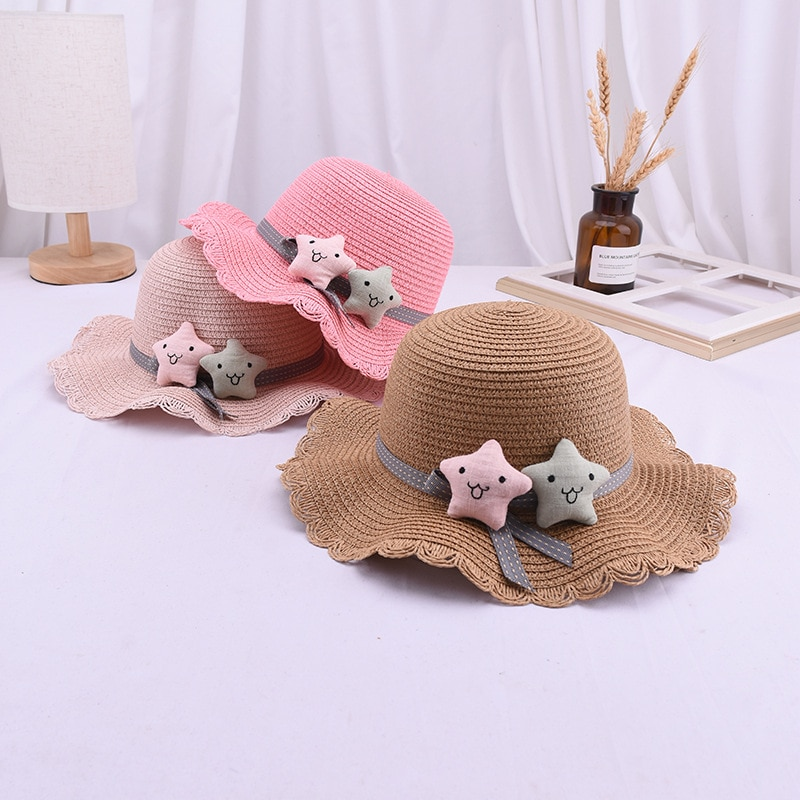 Sombrero de verano para niñas y niños, sombrero de paja, Sombrero de Panamá, sombreros de playa, bolso de mano de dibujos, bolsas para trajes de sol, sombrero de chica