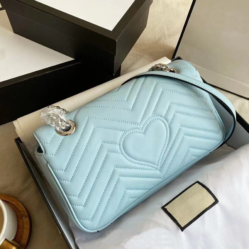 2021 صيف جديد موضة حقائب يد جلدية G الحب سلسلة حقيبة الكتف حقيبة ساعي المحافظ وحقائب اليد الفاخرة مصمم
