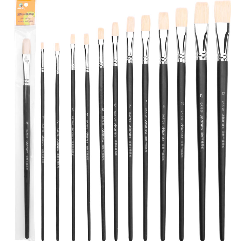 LifeMaster Marie's Flat Bristle Brushes for Oil Painting/Acrylic Painting Paint Brush Art Supplies GA7700