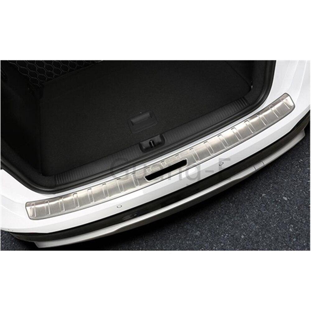 Para Audi Q2 Q2L 2018 2019 2020 pegatina de coche para Exterior de estilismo, placa de ajuste de parachoques trasero moldura para luz, Pedal de maletero 1 Uds