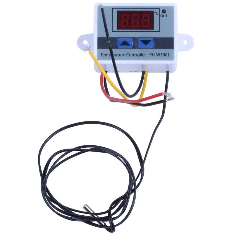 XH-W3001 DC12V All-Purpose Digitale Led Temperatuur Controller Thremostat Met Sensor 2 Stage Verwarming En Koeling Modus