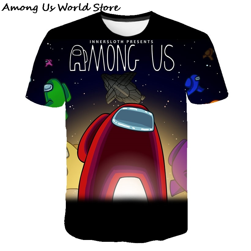 New 3D Children's Clothing T shirt Game Among Us Printed T-shirt Short Sleeve Kids/Boys/ Girls Casual Toddler Tshirt Size 4T-14T