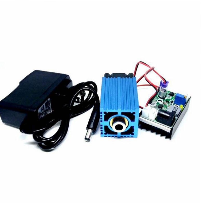 Модулируемый 488 нм 60 мВт с вентилятором регулируемый сцена эффект свет точка +% 2F линия +% 2F крест небо синий лазер диод модуль с адаптером 12В +