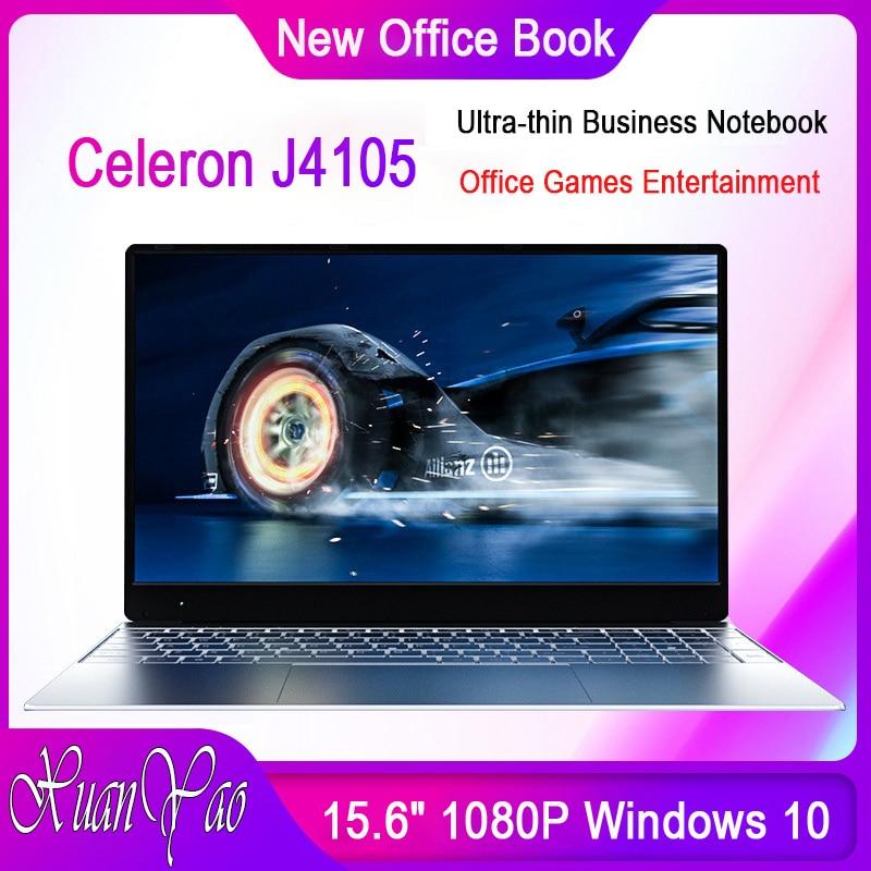 Ordenadores portátiles XUANYAO de 15,6 pulgadas, Ordenador de pantalla grande Intel Celeron J4105, ordenador portátil de Gaming, portátil de pantalla completa ultrafina, trabajo de oficina