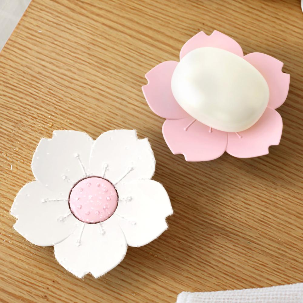 Мыльница вишневого цвета с сливом подходит для ванной и кухни Туалет водопад мыльница легко моется Сакура мыльный лоток