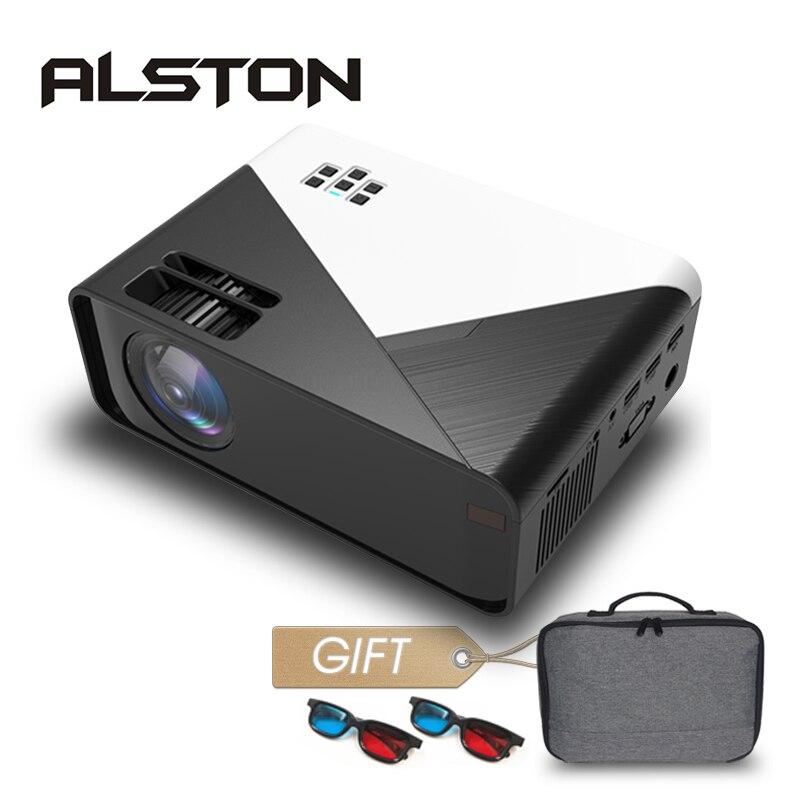 ALSTON-proyector Mini W15 HD, LED de 3500 lúmenes, 720P, compatible con 1080P, Android, wi-fi, HDMI, VGA, AV, películas y juegos