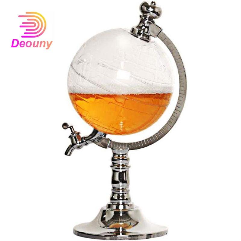 DEOUNY غلوب ويسكي البيرة موزع الكحول شرب بار موزع للكحول البوربون الفودكا الغذاء البلاستيك الدورق الملحقات