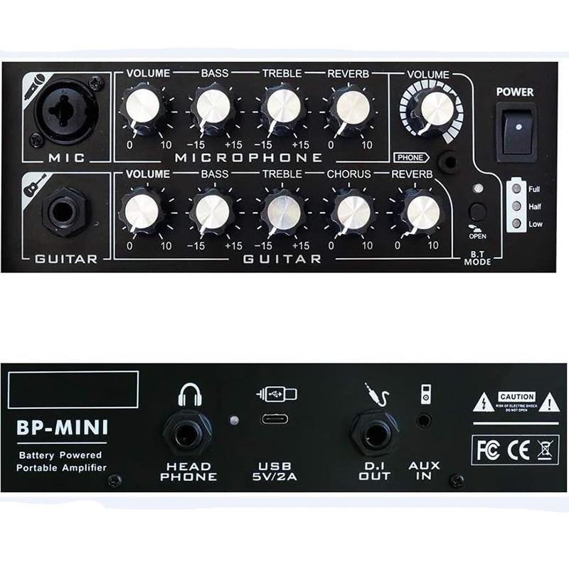 Coolmusic BP mini Acoustic Electric Guitar Amplifier Speaker Portable Compact Combo Rechargeable Bass Amp + Treble Reverb Chorus enlarge