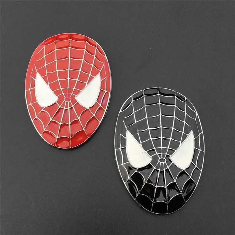 Pegatina de Metal 3D para decoración de coche con emblema de Spiderman, accesorios de decoración para motocicleta y coche para Chevrolet Suzuki Toyota Hyundai